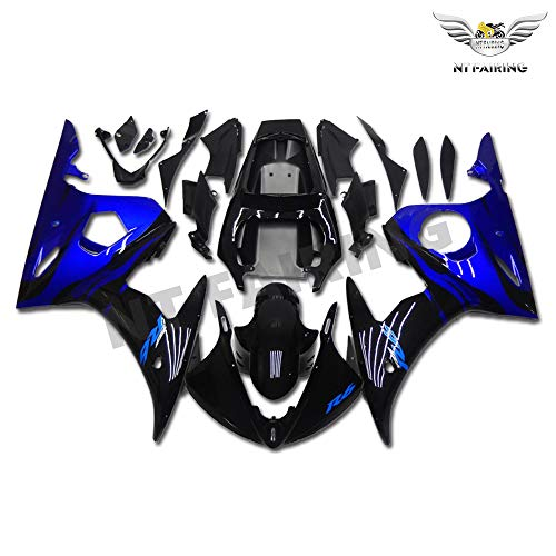 NT FAIRING Blue Flames Injection Mold Fairing Fit for Yamaha YZF 2003-2005 R6 & 2006-2009 R6S New Painted Kit ABS Plastic Motorcycle Bodywork Aftermarket