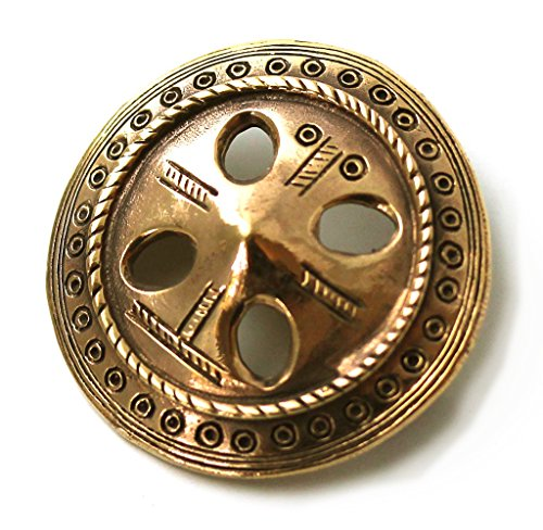 Bronze Norse Viking Shield Celtic Vintage brooches Clothes Fasteners - Cloak Scarf Shawl Pin Jewelry