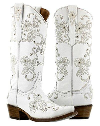 Cowboy Professional - Women's I Do White Western Bridal Cowboy Boots 8 Medium (B,M)