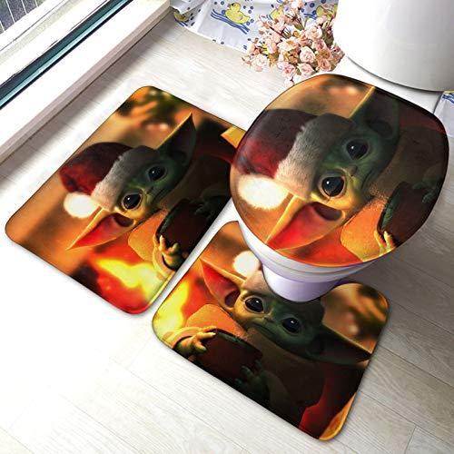 XIAODONG Star War - Juego de 3 alfombrillas de baño (40 x 60 cm)