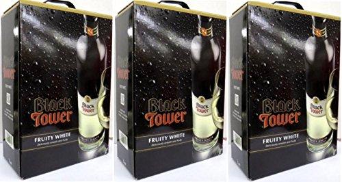 3 x BLACK TOWER FRUITY WHITE Bag in Box 3 Liter