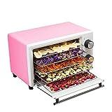 Deshidratadores de Frutas Máquina De Frutas Secas Alimentos De Deshidratación Secador De Aire Hogar Pequeña Fruta Verduras Y Carne Secador De Alimentos para Fruta ( Color : Pink , Size : 34x26x21CM )