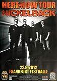 Nickelback Here And Now FRA 2012 - Original Konzertposter,
