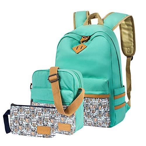Leaper Rucksäcke für Teenager Mädchen Teenager Rucksack Set Schultaschen Büchertaschen 3-in-1