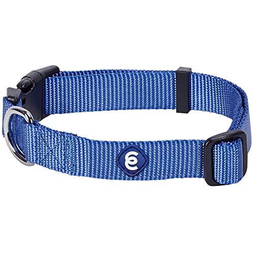 Blueberry Pet Essentials Classic Durable Solid Nylon Adjustable Dog Collar,...
