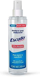 Escudo Antibacterial, Alcohol en Spray Antibacterial Para Manos y Superficies de 200 Ml