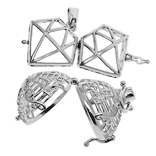 lahomia 2 colgantes de latón con forma de jaula para colgar para mujer o boda