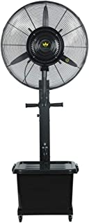 Ventilador de nebulización humidificador industrial, Ventilador de alta velocidad - Ventilador eléctrico de pie, Ventilador de enfriamiento de pie de 3 velocidades de servicio pesado Ideal para el g