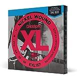 Cuerdas D'Addario EXL157 con entorchado de Nickel para Guitarra Eléctrica, Barítono Medio, 14-68