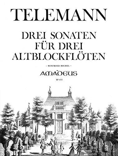 Klassieke noten AMADEUS Telemann G.P. – 3 Trios – 3 planken.