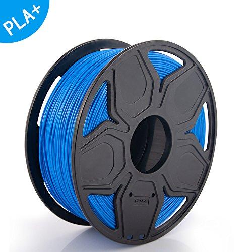 TIANSE filamento PLA PLUS + per stampanti 3D, 1,75 mm, precisione dimensionale +/- 0,02 mm (2,2 lbs.) (Blu)