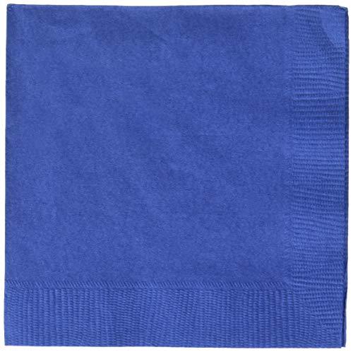Amscan SYNCHKG078058 6543217948856 Big Party Beverage - Servilletas (12,7 cm, 125 unidades), color azul