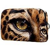Neceser de Viaje Disuasor de Ojos de Leopardo Neceser Maquillaje Nolsas de Aseo Cosméticos Organizador Accesorios de Baño Viajes de Negocios Vacaciones 18.5x7.5x13cm