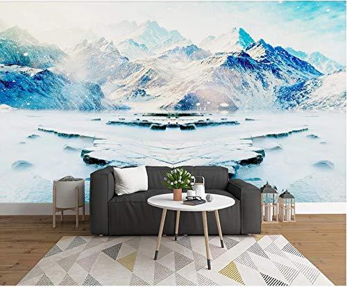 Papel Pintado Pared Dormitorio Paisaje Natural De Montaña De Nieve De Fantasía Papel Pintado Pared 3D Papel Pared Mural Pared Fotomurales Decorativos Pared Murales 400x280cm