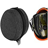 Geekria UltraShell Case Compatible with Howard Leight Impact Sport OD Electric Earmuff, Awesafe Shooting Earmuff, Walker's Game Ear, Replacement Protective Travel Carrying Bag (Drak Grey)