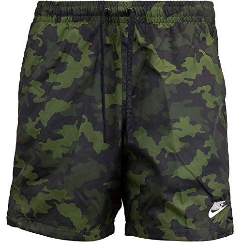 Nike Flow Camo Shorts (S, Green/White)