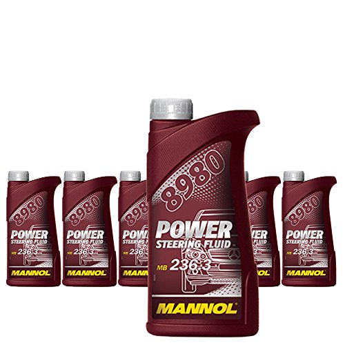 MANNOL 6 x 500ml 8980 Power Steering Fluid/Servooel 236.3 Gelb/Braun