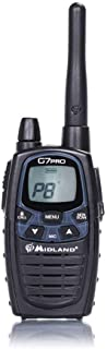 Midland G7 Pro Radio Ricetrasmittente Walkie Talkie Dual Band 16 Canali PMR446 e 69 Canali LPD, 4 Batterie Ricaricabili Ni...