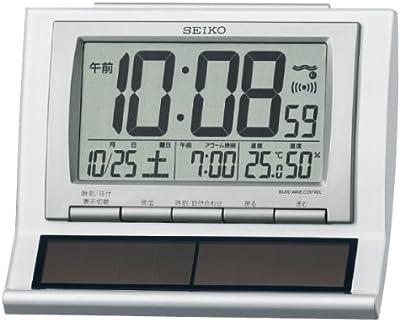 セイコー SEIKO ハイブリッドソーラー 電波 目覚まし時計 SQ751W