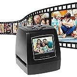 Escáner de película/Diapositivas 135 de Alta resolución, convertidor LCD portátil de 2,4 Pulgadas TechCode Visor de imágenes Digitales de Fotos Software de edición LCD Incorporado (32G)