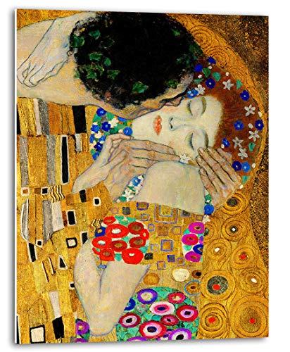 Tangerine Wall   Cuadro de El Beso de Gustav Klimt (fragmento)   Tamaño: 30x40cm   Sticky para apoyar o Colgar sin Agujeros   Especial para decoración de salón