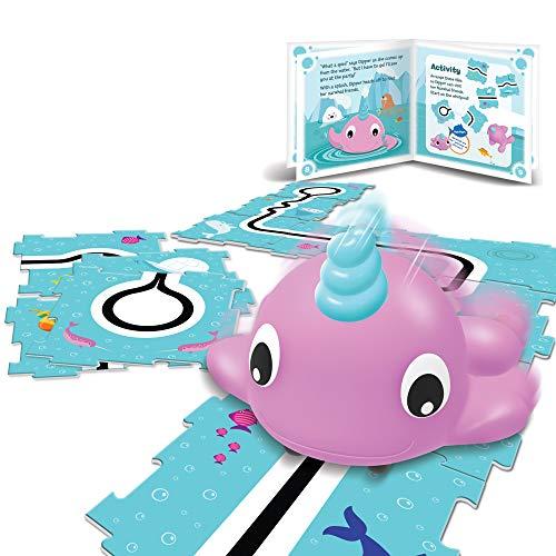 Learning Resources-La narval Dipper, codificadora Go-Pets de Coding Critters, Stem, Juguete para Aprender a codificar a una Edad temprana, Mascota interactiva, niños de 4+ años (LER3099)