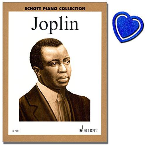 Ausgewählte Ragtimes von Scott Joplin - Reihe: Schott Piano Collection - Klavier Noten [ Peacherine Rag , Weeping Willow , Scott Joplin's New Rag ] - mit bunter herzförmiger Notenklammer