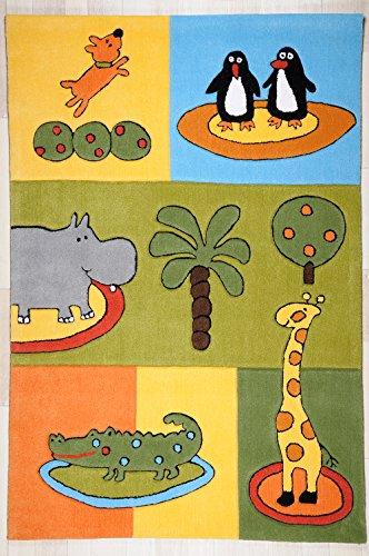 De haute qualité de tapis pour enfant multicolore avec animaux tapis tapis de jeu pour jugendteppich wohnzimmerteppich/belle résistant wohnzimmerteppich zoo animaux modèle girafe pingouins//// crocodile ce magnifique tapis est en 100 x 160 cm ou 180 x 120 cm de long/ce tapis étonne par son coloris muster. est établi pour les regards dans tout intérieur., multicolore, 100 x 160 cm