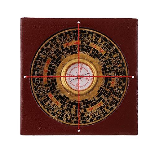 Feng Shui Kompass Luo Pan Tool Geomantic DREI Kombiniert Mit Holzkiste