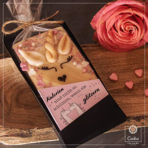 Caibo Einhorn Schokolade mit personalisierter Grußkarte