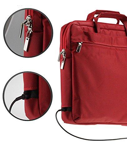 Navitech Rot Premium Case/Cover Trage Tasche für das Lenovo Flex 11 Chromebook 11.6-Inch
