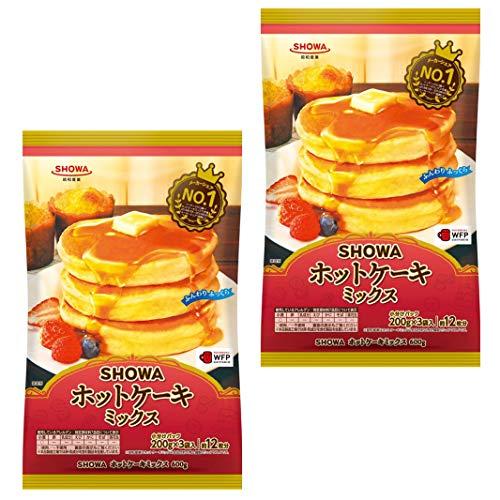 【2セット(600g×2)】 SHOWA ホットケーキミックス 600g(小分け200g×3袋) ホットケーキ ミックス スイーツ おやつ お菓子 パンケーキ