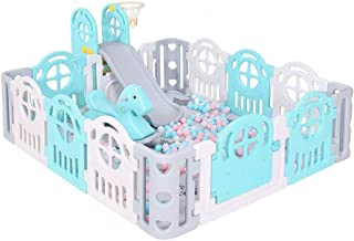 MEI XU Playpens Safety Fence, Home Baby Indoor Crawling Mat Toddlerchildren's Play Fence Slide Baby Fence (Color : A)