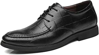 Sygjal Men's Fashion Oxford Casual Low-top Printed Superfiber Lace Up Formal Shoes Black (Color : Black, Size : 38 EU)