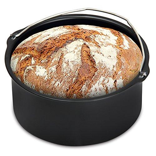 Monzana Heißluftfritteuse Universal Backzubehör 1200 ml Spülmaschinengeeignet Brotbackkorb Antihaftbeschichtung Backform