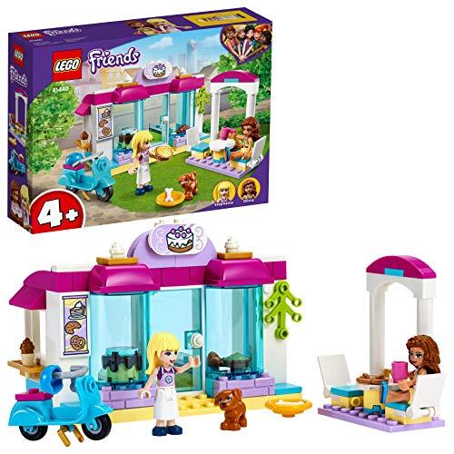 LEGO41440FriendsHeartlakeCityBäckerei, Ostergeschenk für Kinder, Spielzeugab4Jahre mit Mini Puppen Stephanie und Olivia