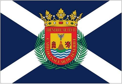 Autoaufkleber Sticker Fahne Spanien - Teneriffa Flagge Aufkleber