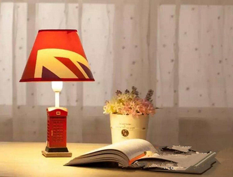H&M Tischleuchte Harz und Stoff-Tischlampe E-Mail-Lampe gutbürgerliche Leseraum Retro Tisch