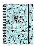 Finocam - Agenda 2022 Semana Vista Apaisada, de Enero 2022 a Diciembre 2022 (12 meses) E10 - 155x212 mm Espiral You Flamingos...