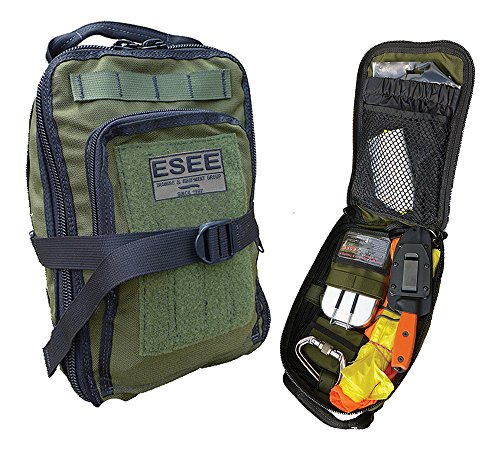 ESEE - Advanced Survival Kit - OD Bag & Map Case w/ Survival Contents by ESEE