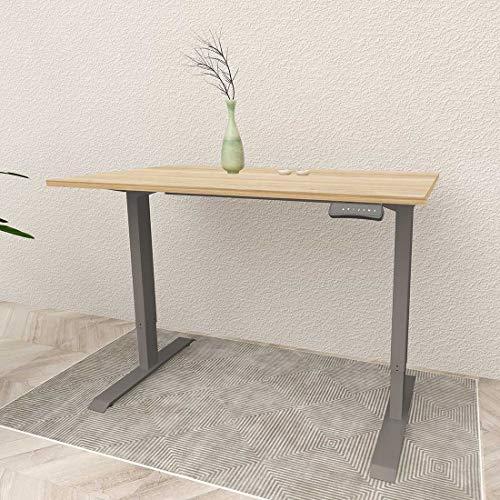 Flexispot ED2 Elektrisch Höhenverstellbarer Schreibtisch mit Tischplatte(140x70).Mit Memory-Steuerung und Softstart/-Stop& integriertes Anti-Kollisionssystem. (Silber+Ahorn)