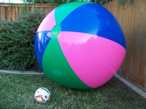 51' or (4 1/4 ft.) Tall Inflatable Large Beach Ball, Party Fun, Monster Ball Giant XXL
