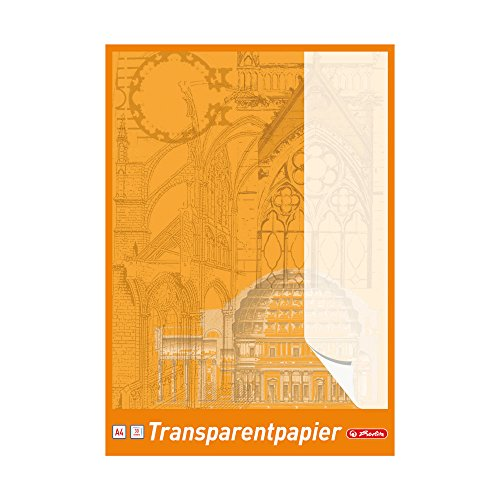 Herlitz 696401 Transparentpapierblock A4, 30 Blatt