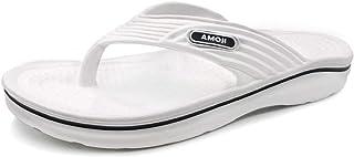 Amoji Unisex Arch Support Lightweight Flip Flops Beach Slippers AM162