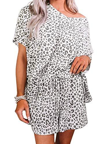 CORAFRITZ Schlafanzug mit Leopardenmuster, Himmelblau/Orange/mehrfarbig Gr. 48, leopard