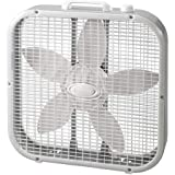 LASKO 20 inch Box Fan with , White