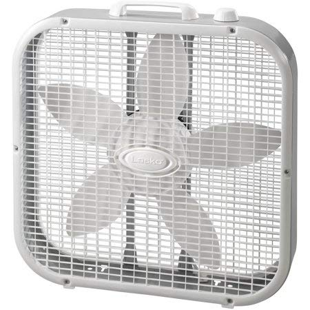 LASKO 20 inch Box Fan with , White