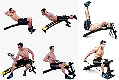 Adjustable Weight Bench Weight Lifting Gym Home Workout Bench Height Adjustable Utility Bench Flat Incline Decline Abs ,Bench Press, Adjustable Barbell Crunch - Image & Colour Slightly may vary by Kemket