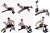 Banco de gimnasio, con altura e inclinación ajustables, ideal para abdominales, para alzar barras de pesas, de Kemket , SC-82089 Yellow, 1