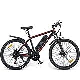 DuraB Mountainbike 26 Zoll E-Bike, Elektrisches Mountainbike 350W 36V 10AH, Mountainbike für Erwachsene, Elektrische Fahrräder Herren Damen I Shimano 7 Gang-Schaltung I mit LCD Instrument (Schwarz)